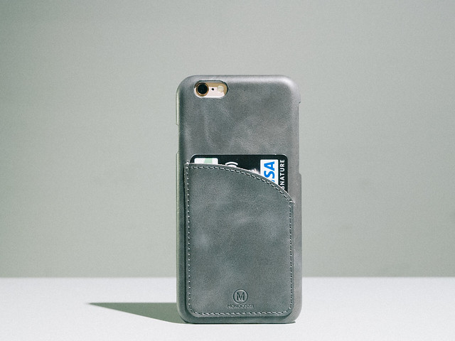 Exquisite | Genuine Leather Hard Shell Case with Smart Card Pocket for iPhone 6s