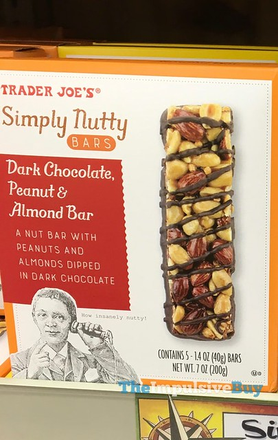 Trader Joe's Dark Chocolate, Peanut & Almond Simply Nutty Bars
