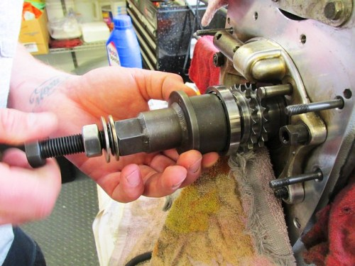 Installing Cycle Works Tool on Crankshaft Nose