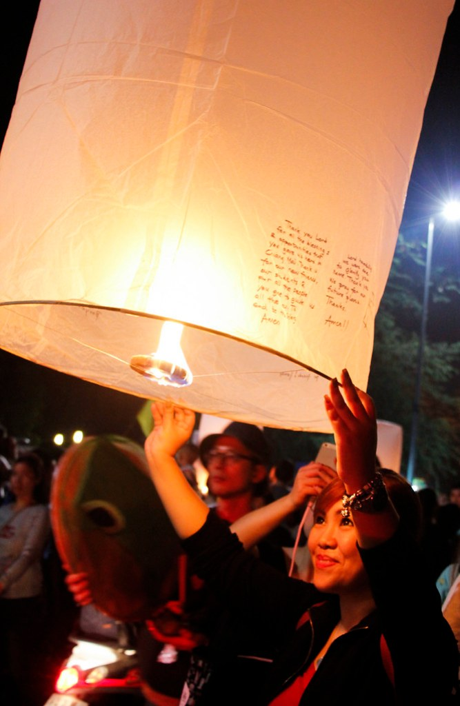 lanterne festival i Chiang Mai, Thailand
