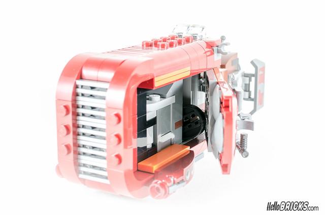 REVIEW LEGO Star Wars 75099 Rey's Speeder 19 - HelloBricks