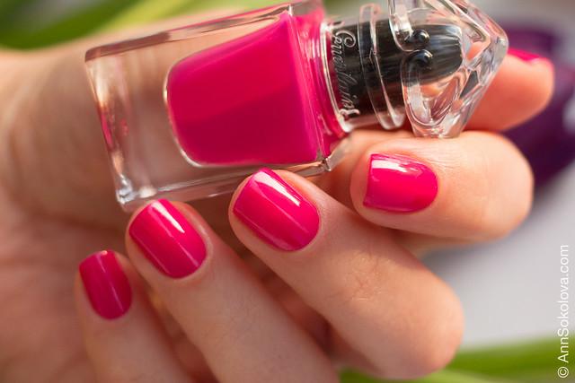 04 Guerlain La Petite Robe Noire Nail Colour #002 Pink Tie swatches Ann Sokolova