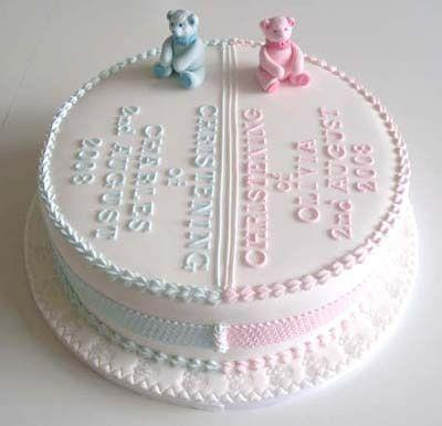 torta gemelli per baby shower party