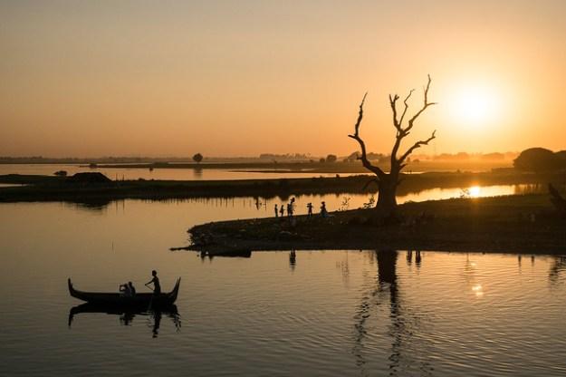 Sunset. Amarapura