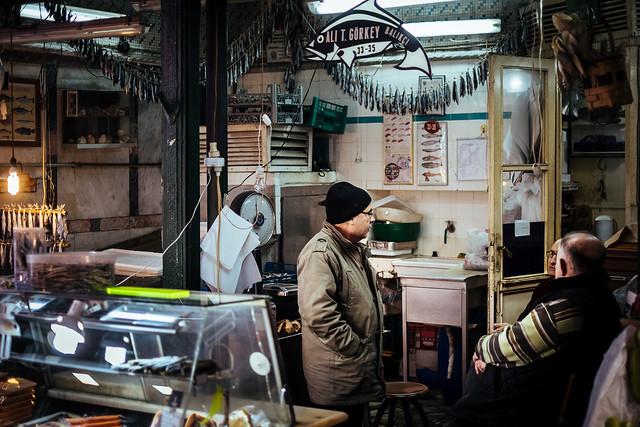 Istanbul: buurten bij de visboer