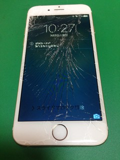 52_iPhone6のフロントパネルガラス割れ