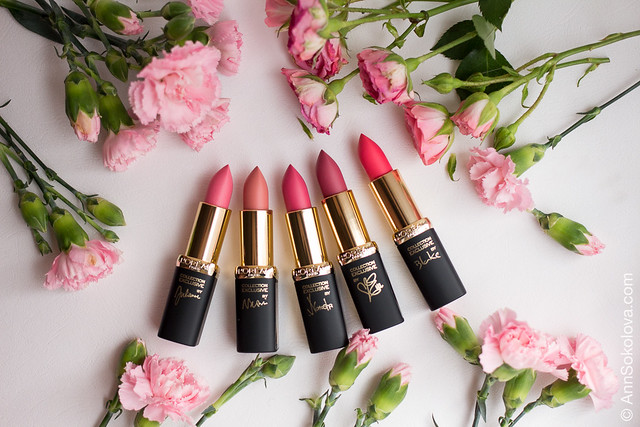 06 L'Oreal Exclusive Collection By Color Riche Lipstick Розовая симфония La Vie En Rose swatches