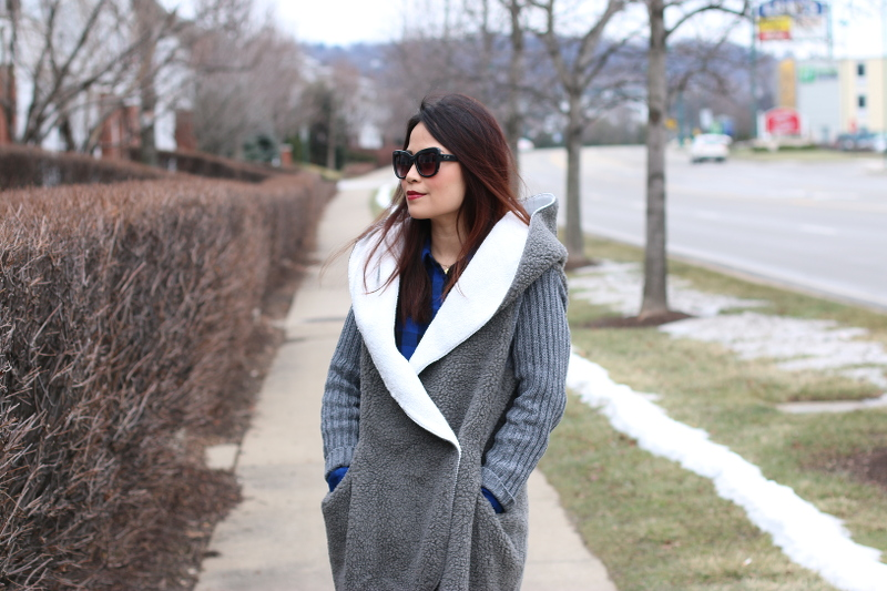 shein sweater coat