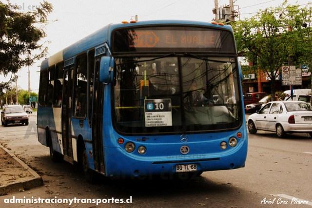 Transantiago (E10) - Unitran - Metalpar Tronador / Mercedes Benz (BGTL68)