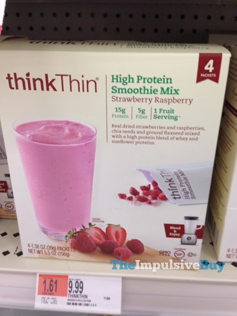 ThinkThin Strawberry Raspberry High Protein Smoothie Mix