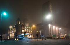 Night bus at Pier Head