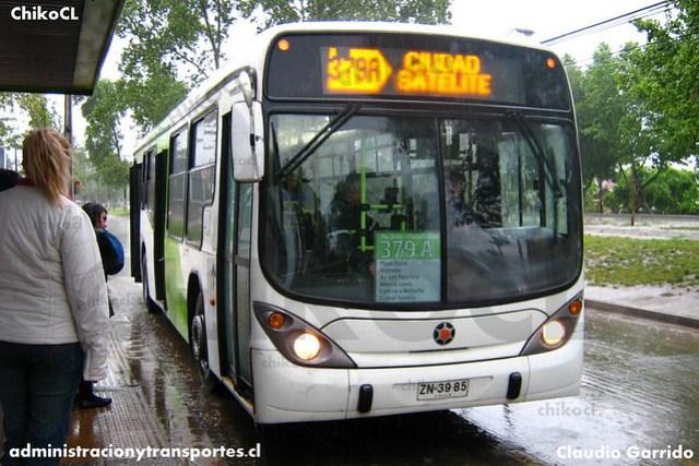 Transantiago Transición (379A) - Alsacia / Express - Marcopolo Gran Viale / Volvo (ZN3985)