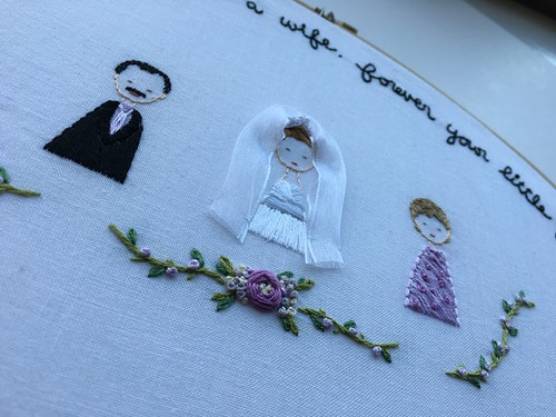 Custom embroidery. Parents of the bride gift.