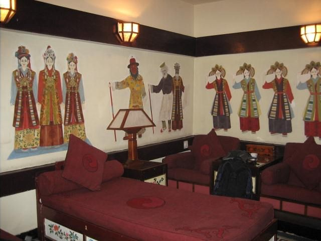 Chonor house Dharamsala, detail of one of the rooms