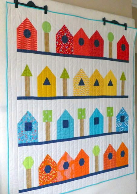 Shape Sorter Street Quilt / Popular Patchwork (April'16)