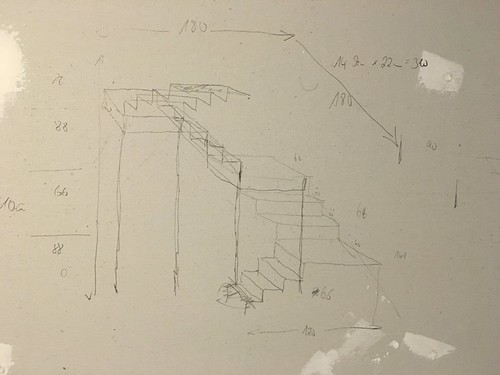 First plan for staircase