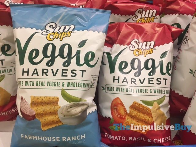 Sun Chips Veggie Harvest (Farmhouse Ranch and Tomato, Basil & Cheese)