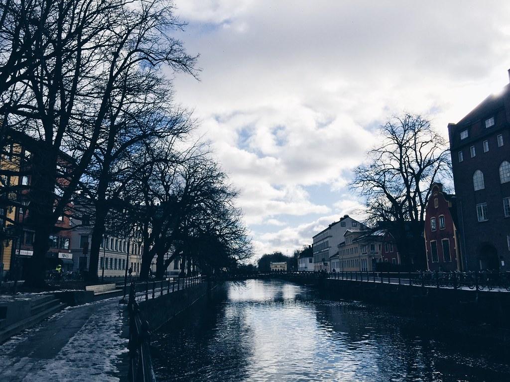 uppsala river winter