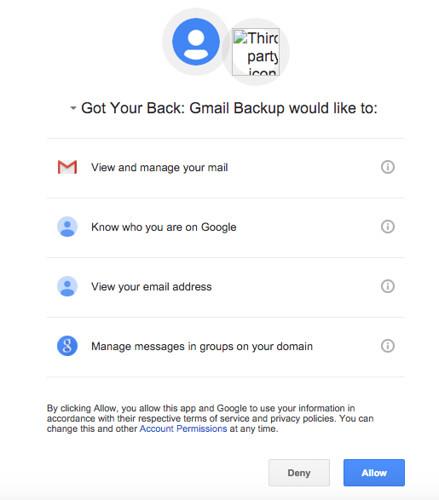 กด Allow เพื่อให้สิทธิในการเข้าถึงข้อมูลของ Gmail