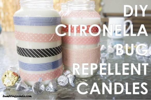 DIY Citronella Bug Repellent Candles
