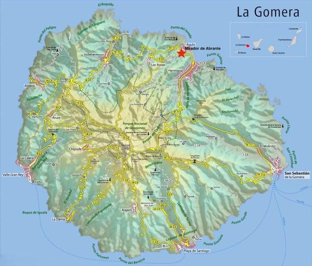 Mapa La Gomera Abrante