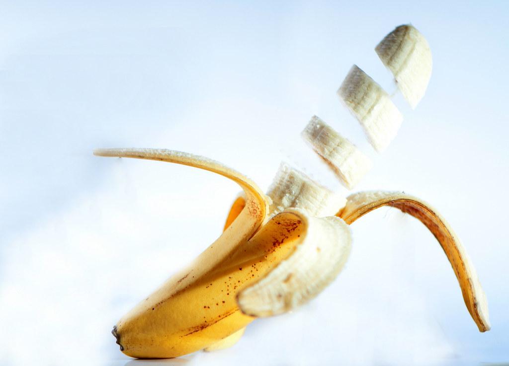 Imagen gratis de un plátano troceado