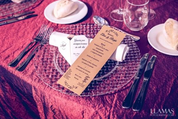 Corazones de agradecimiento y menú
