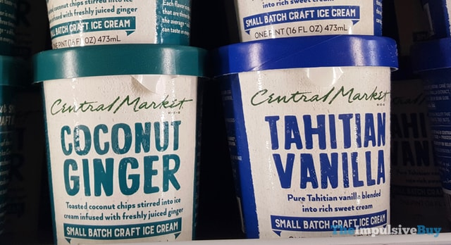 H-E-B Central Market Coconut Ginger and Tahitian Vanilla Small Batch Ice Cream