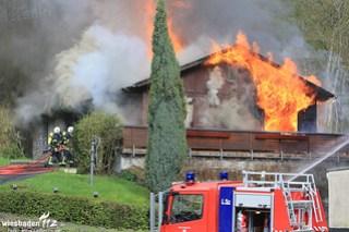 Gebäudebrand Wispertal 16.04.16