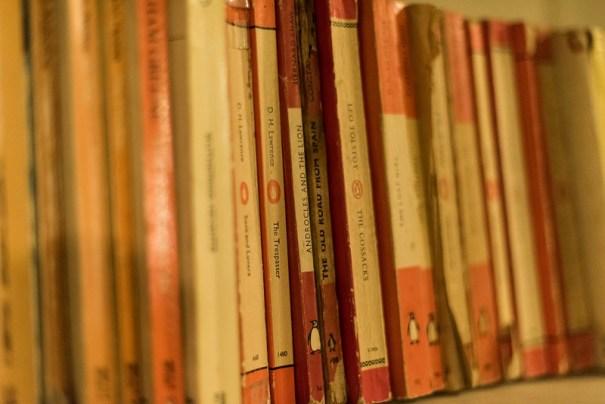vintage Penguin paperbacks