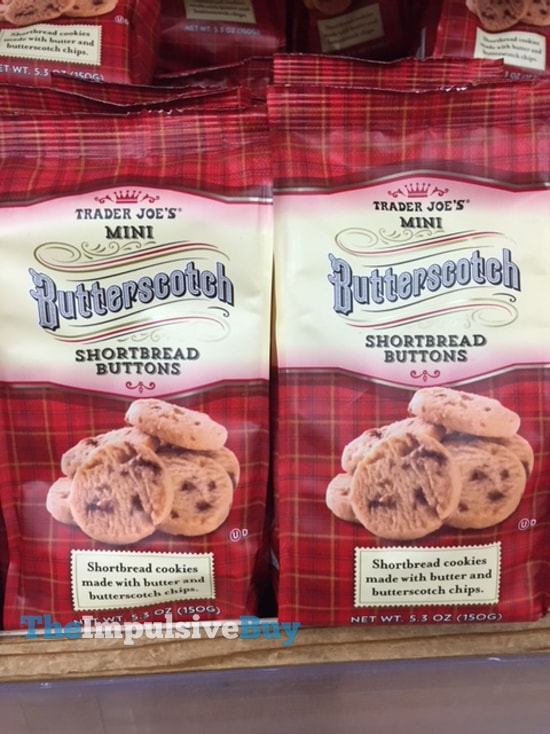Trader Joe's Mini Butterscotch Shortbread Buttons