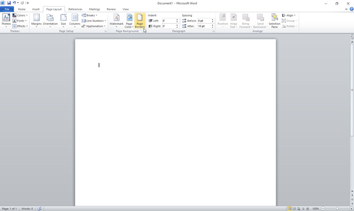 how to add a border to a page in word