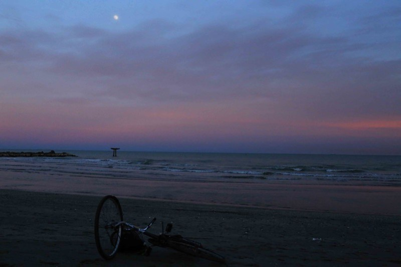 City Moment - A Fallen Bicycle on the Lido Beach, Venice