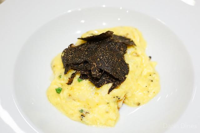 TRUFFLED SOFT SCRAMBLED MIKE & SON'S HEN EGG black winter truffles & toasted brioche