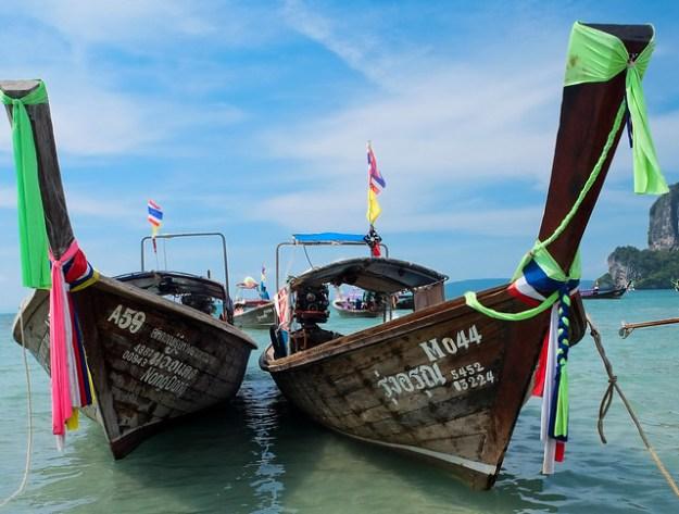 Longtail boats. Railay