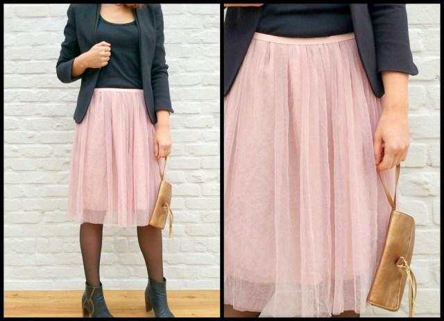 tule/chiffon skirt (preppy)