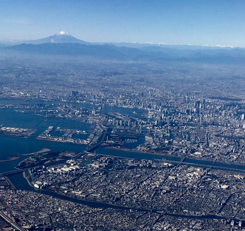 Haneda Takeoff, Mount Fuji view