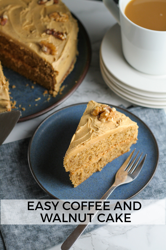 Coffee and Walnut Cake Recipe on www.inthiskitchen.com