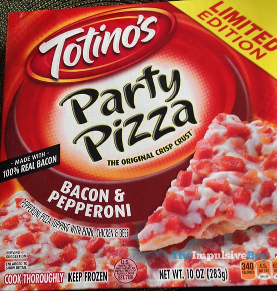 Totino's Limited Edition Bacon & Pepperoni Party Pizza