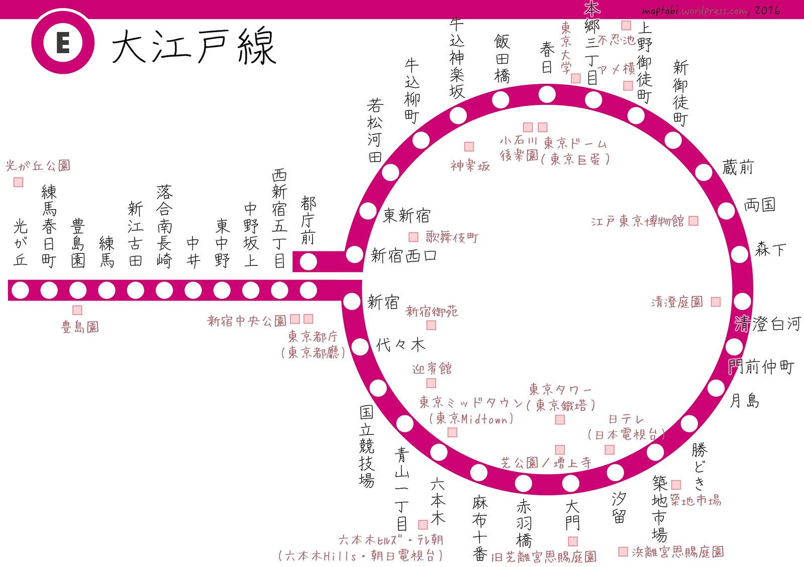 【東京交通】遊走大江戶:都營大江戶線+沿線景點 – maptabi