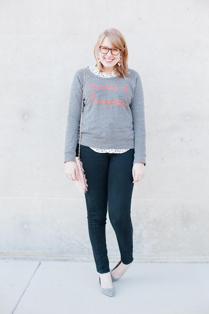 graphic sweatshirt polka dots7