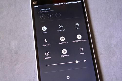 xiaomi-mi4のクイックセッティング画面