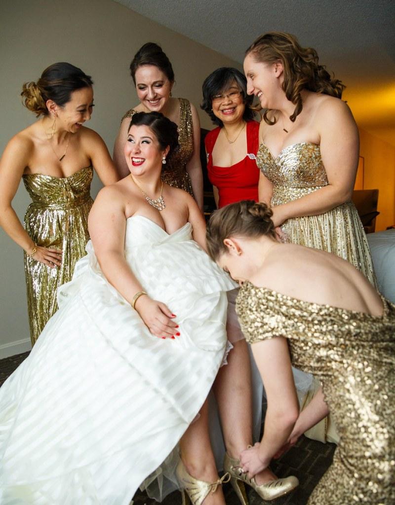 Winter Storm Jonas wedding as seen on @offbeatbride