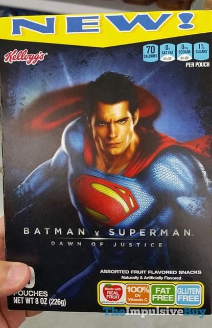 Kellogg's Batman v Superman Dawn of Justice Fruit Flavored Snacks
