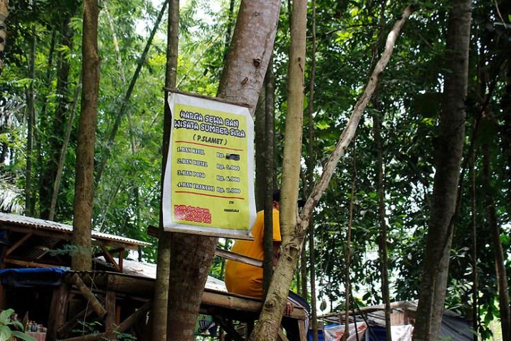 Main di Malang - Sumber Sirah - Plang Penyewaan