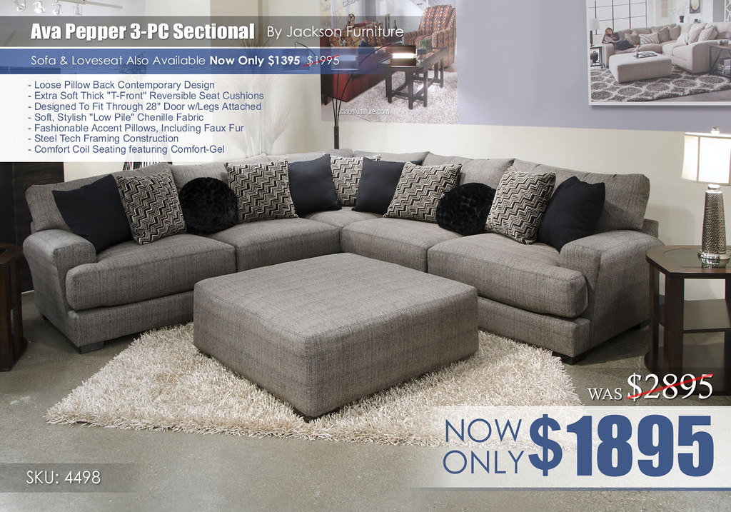 Ava Pepper 3-PC Sectional 4498