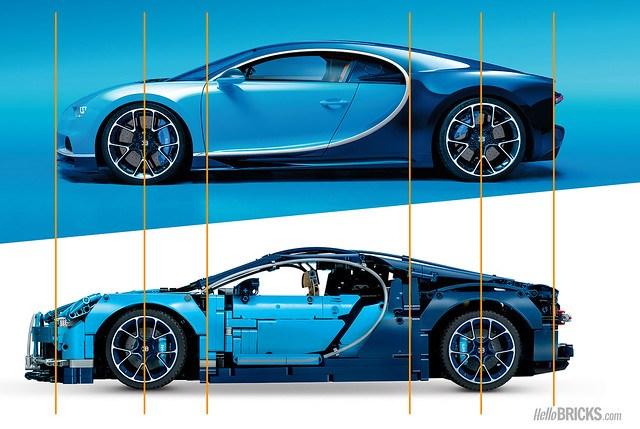 LEGO Technic 42083 Bugatti Chiron Profil Comparison