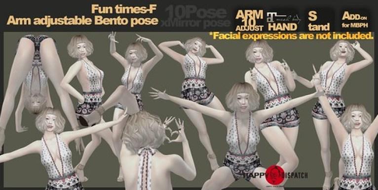 [HD]Arm adjustable Bento pose Fun times-F