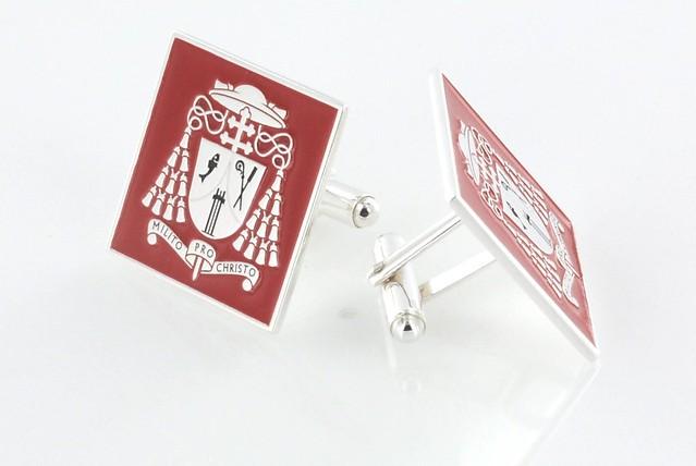 srebrne spinki mankietowe na zamówienie indywidualne