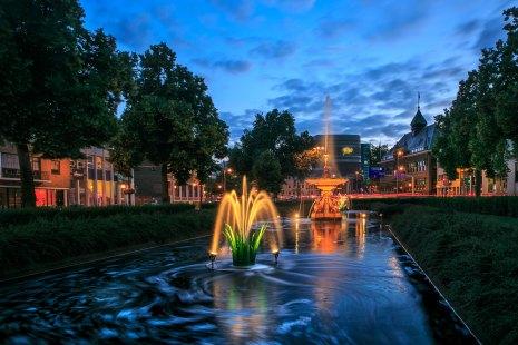Blue hour in het centrum van Arnhem